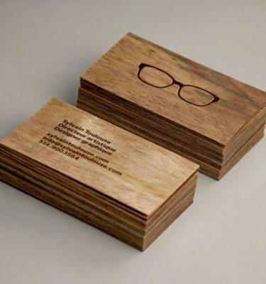визитки из дерева