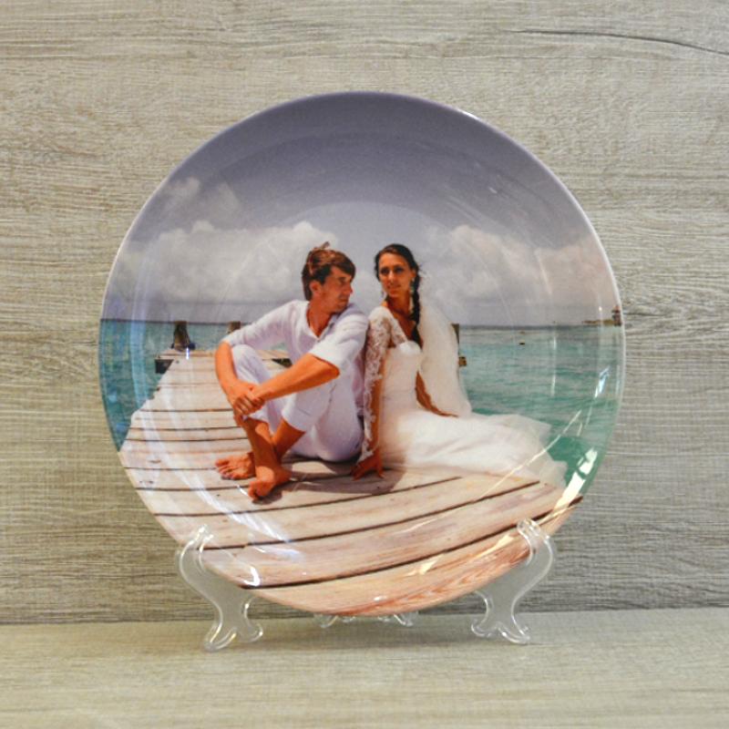 Фотопечать на тарелке в москве