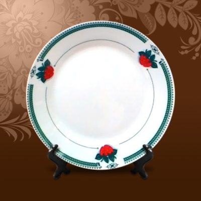 Тарелка керамическая с орнаментом Клубника