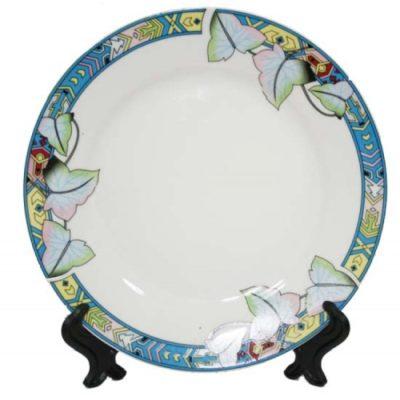 Тарелка керамическая с орнаментом Лотос