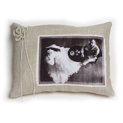 "Подушка ""Свадебная"" Лен"