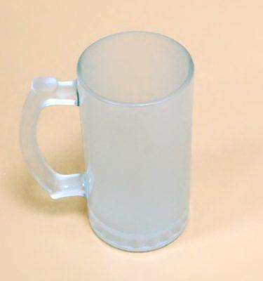 Пивная кружка стеклянная матовая