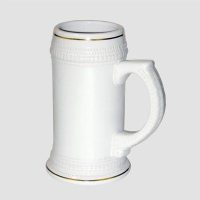 Пивная кружка с золотой каймой