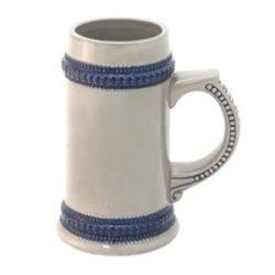 Пивная кружка с синей каймой